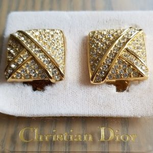 NWT Christian Dior Fancy Clip On Earrings
